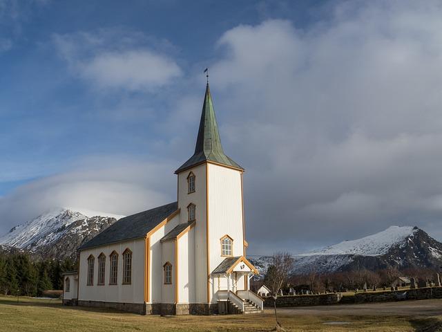 Valberg, Lofoten, Church, Norway