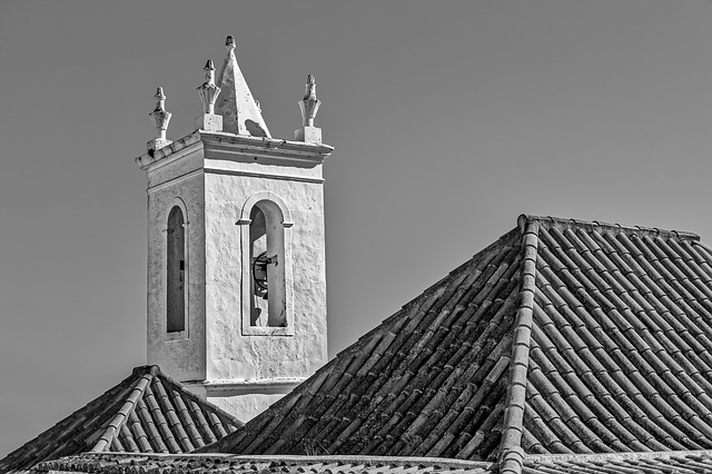 Church, Tower, Architecture, Old, Cathedral, Monochrome