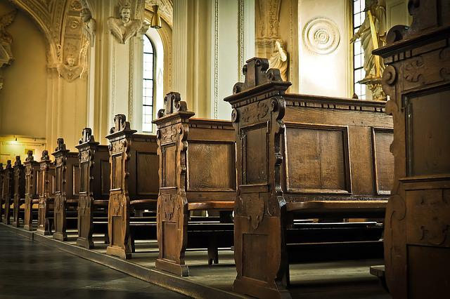 Church, Bank, Wood, Benches, Christian, Church Pews