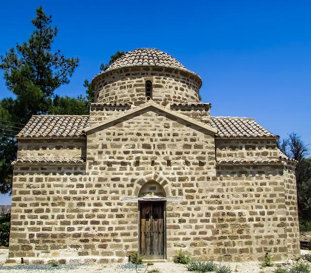 Cyprus, Potamia, Church, Architecture, Monument