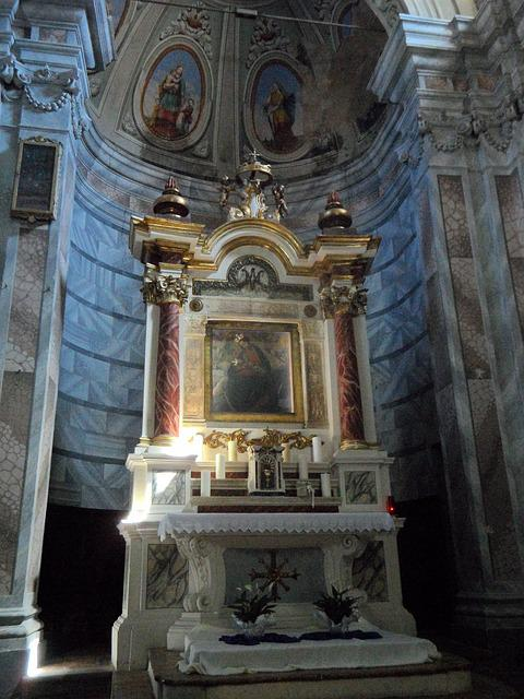 Church, Altar, Sanctuary, Christian, Architecture