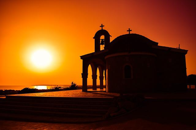 Church, Sunset, Shadows, Sun, Colors, Afternoon