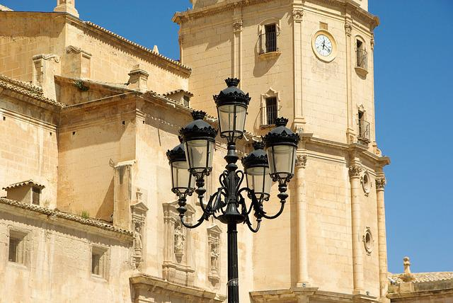 Spain, Lorca, Church, Floor Lamp