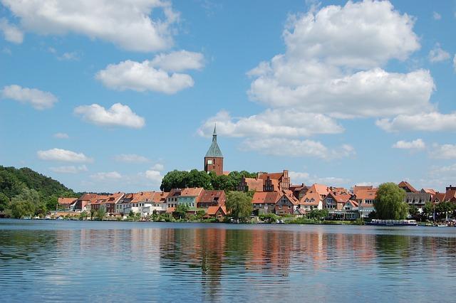 Mölln, Moellner Lake, Water, Lake, Church, St