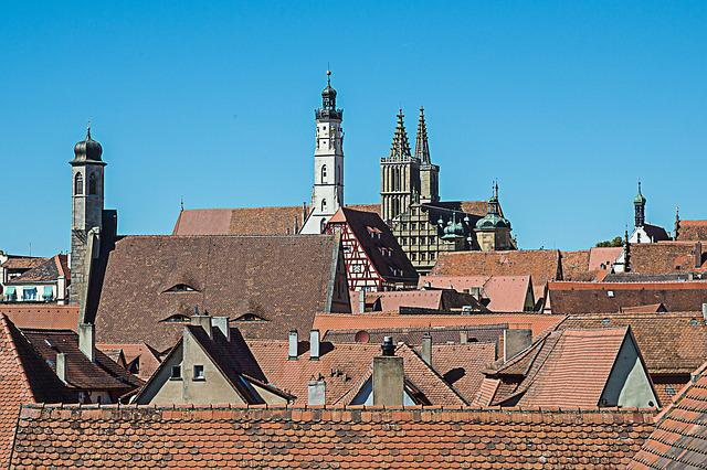 Rothenburg Of The Deaf, Roofs, Church Steeples