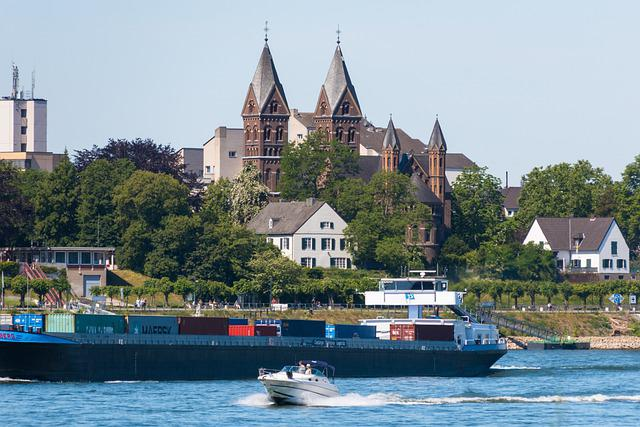 Church, River, Shipping, Church Steeples, Ship, Boat