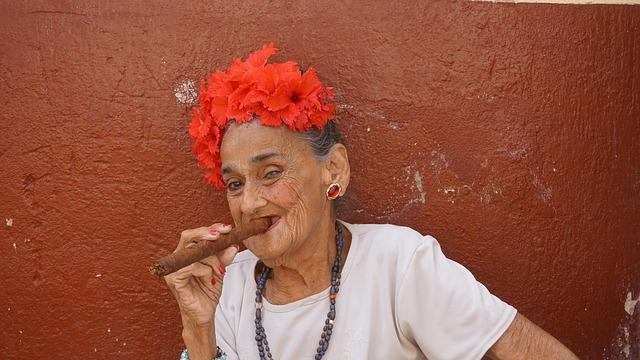 Cigar, Woman, Old, Cuba, Havana