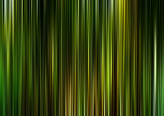 Theater, Cinema, Curtain, Stripes, Green, Yellow