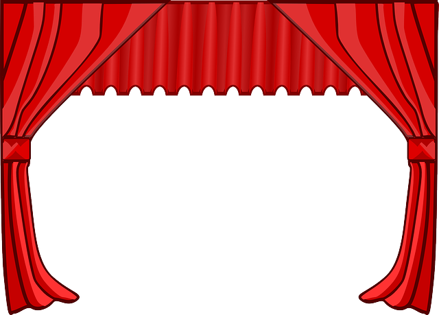 Curtain, Stage, Theater, Movies, Cinema, Red