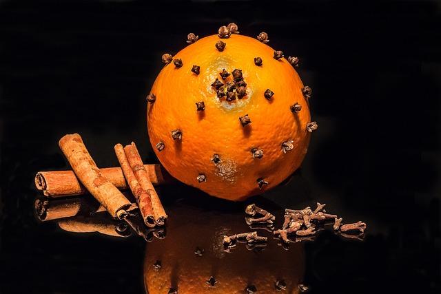 Orange, Cloves, Cinnamon Stick, Advent Decoration
