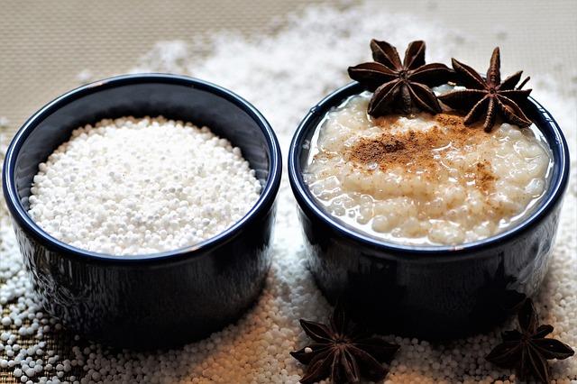 Tapioca, Pearls, Pudding, Cinnamon, Tapiocový Pudding