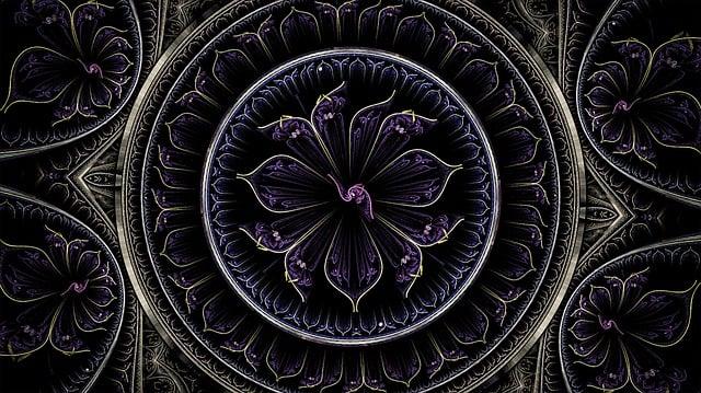 Fractal, Abstract, Purple, Majesty, Pattern, Circle
