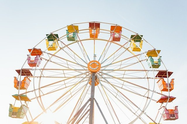 Ferris Wheel, Amusement Park, Ride, Circle, Attraction