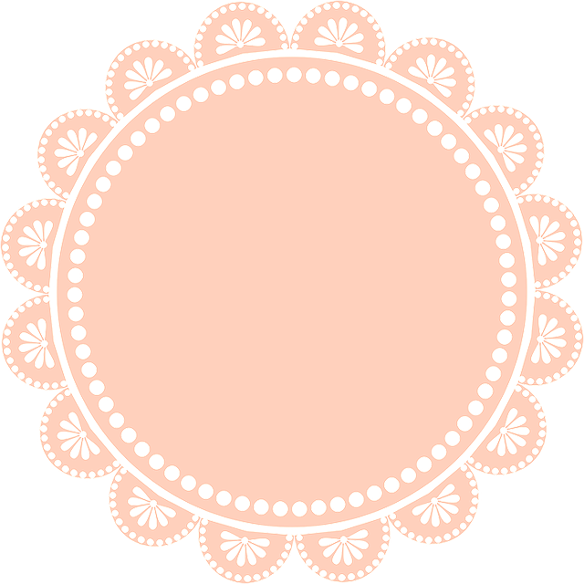 Digiscrap, Lace, Circle, Frame, Flower, Pink