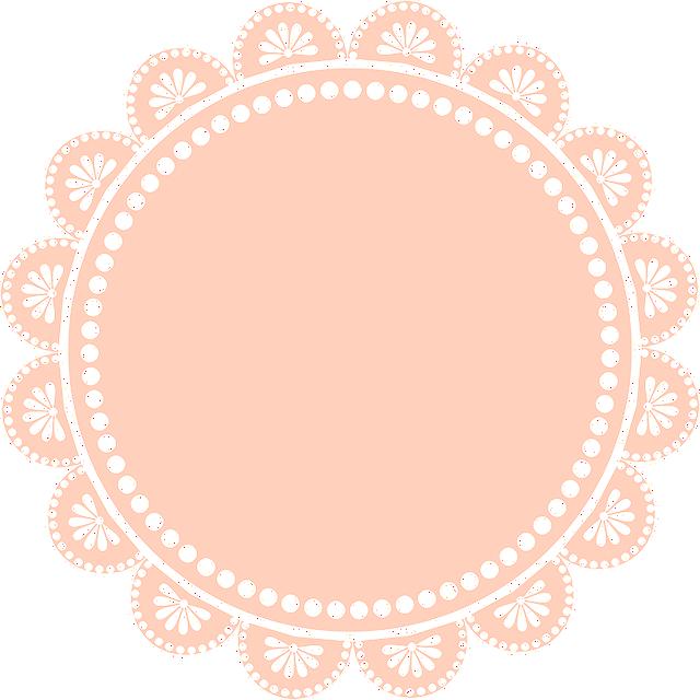 Digiscrap, Lace, Circle, Frame, Flower, Pink