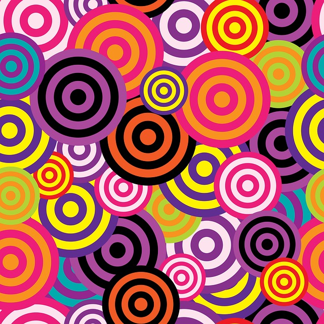 Abstract, Circles, Background, Retro, 60s, 70s