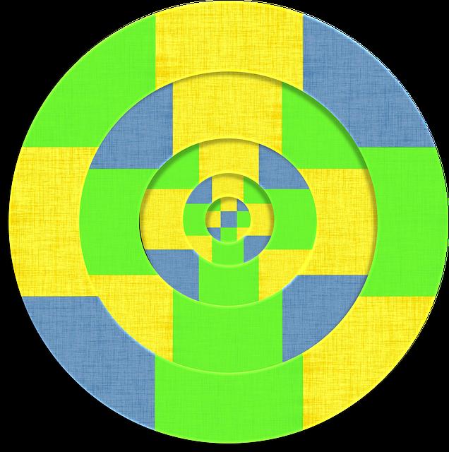 Fabric, 3d, Geometric, Circles, Lime, Green, Yellow