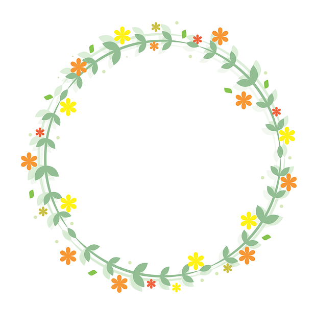Flowers, Flower Bag New, Flower Frame, Circular Frame