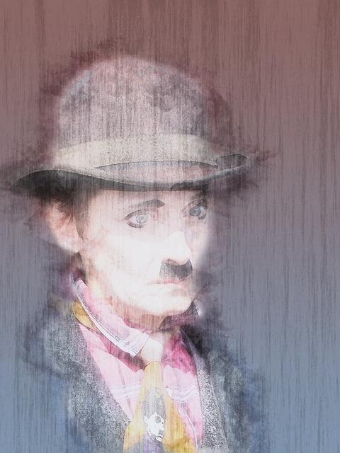 Charlie Chaplin, Copy, Circus, White, Costume, Sad