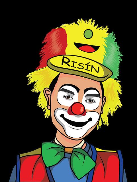Clown, Kids, Circus, Costume, Fun, Smile, Makeup, Happy