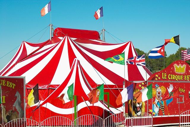 Circus, Marquee, Circus Tent, Clown