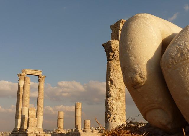 Citadel Hill, Amman, Jordan, Holiday, Travel