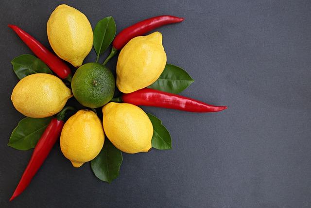 Fruit, Lemon, Chili, Citrus, Vegetable, Red, Hot, Spicy
