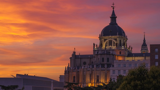 Madrid, Spain, City, Building, Architecture, Church