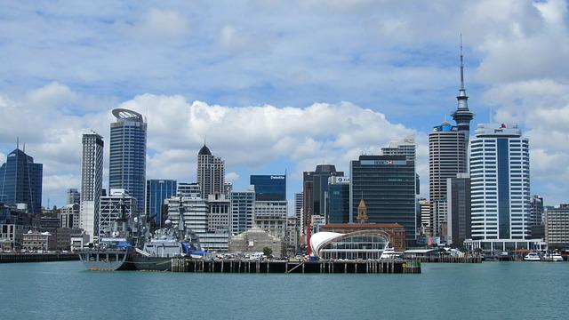 Auckland, New Zealand, City, Tower, Architecture