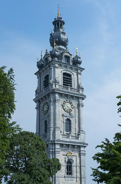 Mons, Belfry, City, Clock, Monument, Architecture