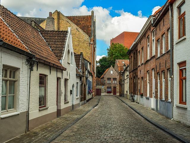 Belgium, Brugge, Architecture, Buildings, Street, City