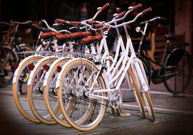 Bicycles, Bikes, Sports, City Bikes, White, Stacked