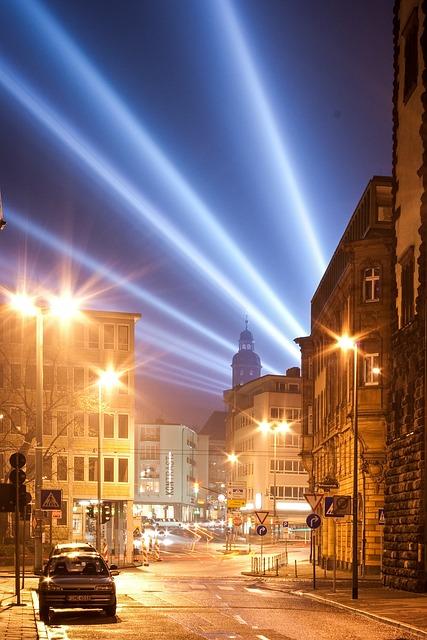Road, City, At Night, Lamps, Orange, Blue, Light
