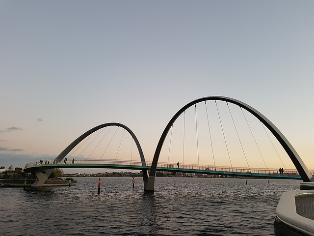Perth, Bridge, Sunset, Australia, Western, Travel, City