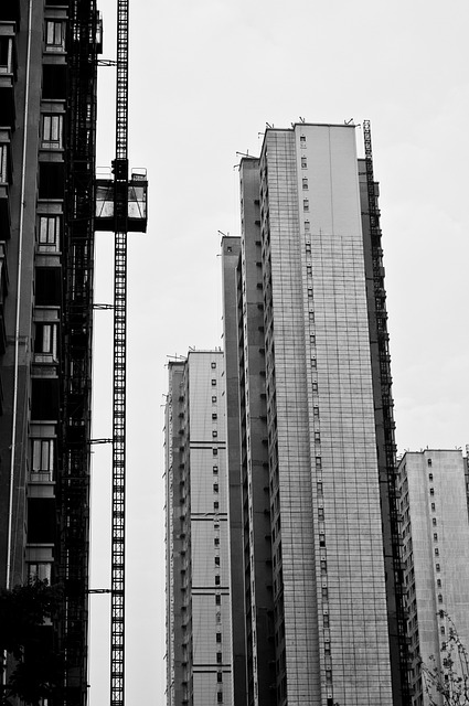 Nanjing, Building, Build, Black And White, City, Line
