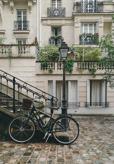 Bicycle, Building, City, Cobblestone Street, Exterior