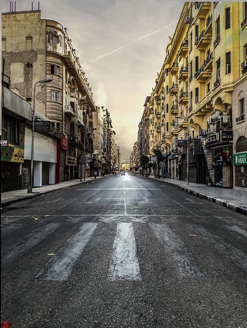 Architecture, Avenue, Buildings, City, Pavement, Road