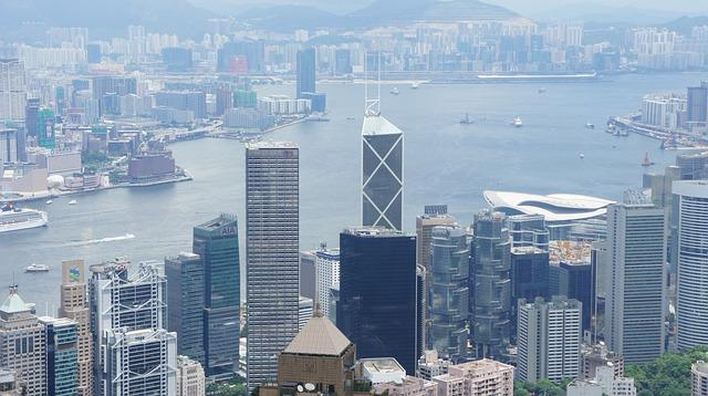 Hong Kong, City, Panoramic, Buildings, Skyscraper