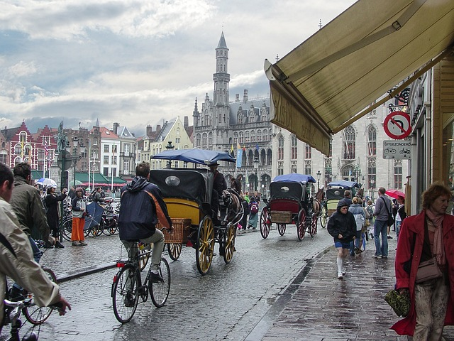 Bruges, Medieval, City, Belgium, Horse, Carriage