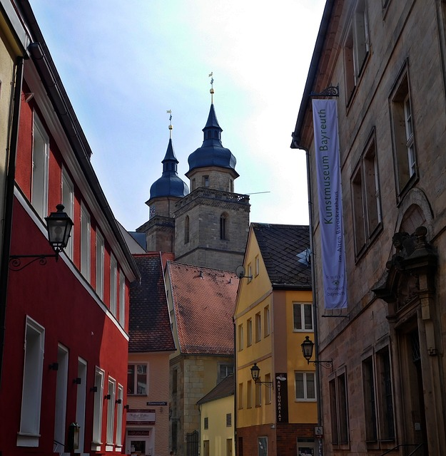City, Alley, City Church, Steeple, Architecture