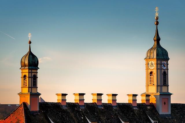 Church, Steeple, Evening Sky, Building, City