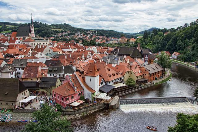 český Krumlov, Czech Republic, City, Unesco, Country