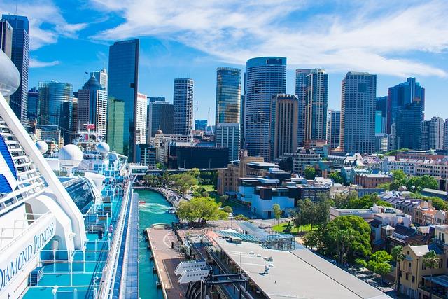 City, Boat, Cityscape, Skyline, Sydney, Cruise