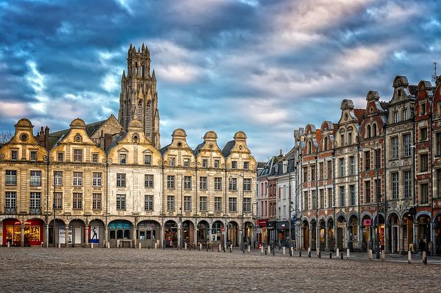 City, Downtown, France, Arras, Historic Center, Houses