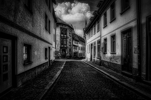 Erfurt, Black And White, Hdr, Road, Germany, City