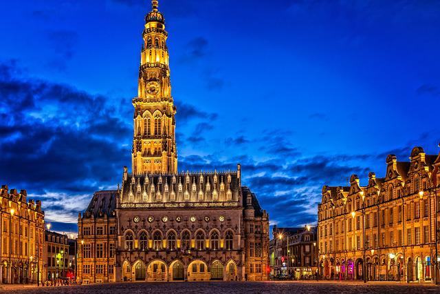 City, Historic Center, Blue Hour, Architecture
