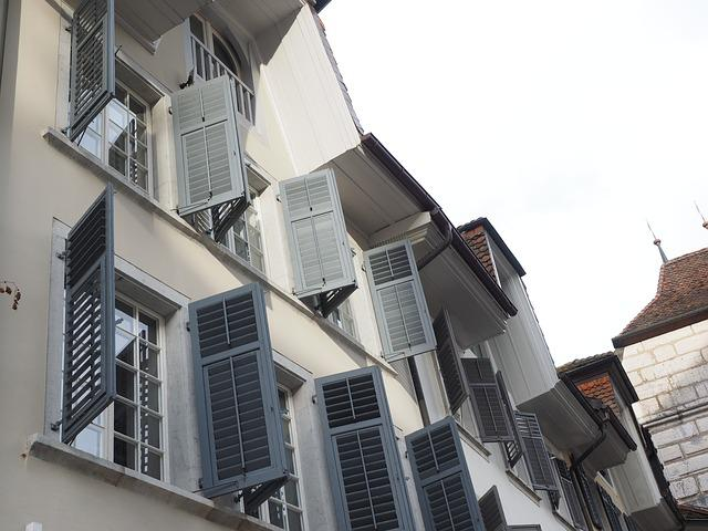 Shutters, Window, Building, Open, Home, Facade, City