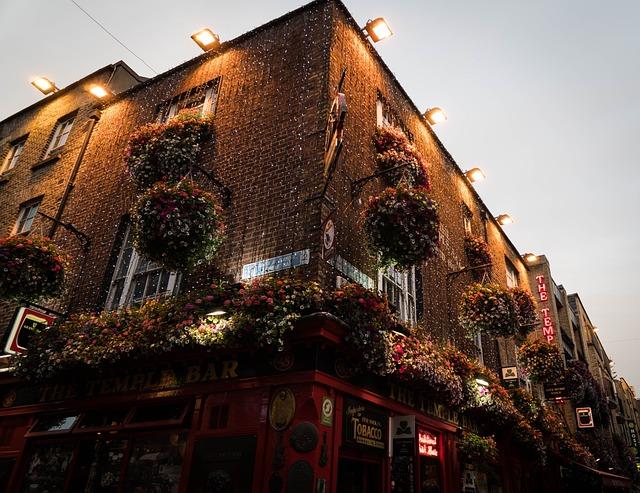 Temple Bar, Bar, Dublin, Ireland, Architecture, City