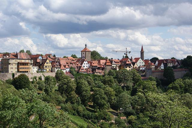Rothenburg Ob Der Tauber, Landscape, City, Germany