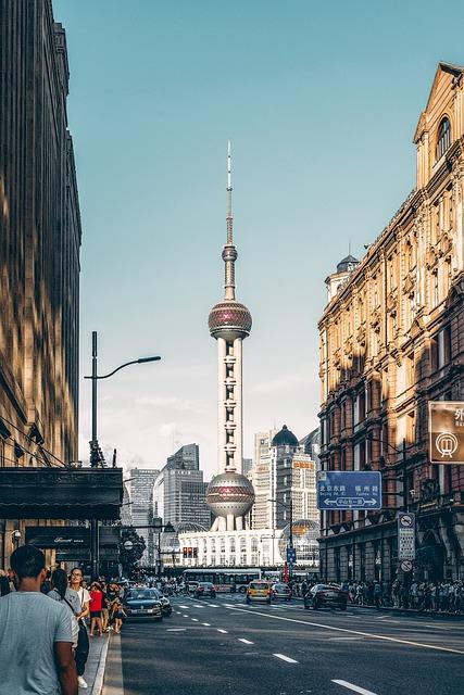 City, China, Shanghai, Building, Landscape